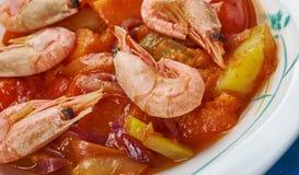 Verdura Tagine del camarón Fotos de archivo