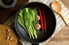 Verdura tailandesa frita Fotografía de archivo