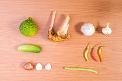 Verdura tailandese dell'alimento, gusto piccante immagini stock