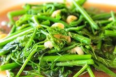 Verdura verde frita Imagen de archivo libre de regalías