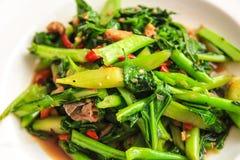 Verdura verde fritta Fotografia Stock