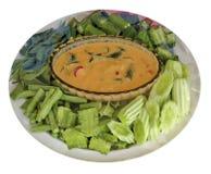 Verdura y salsa de la mezcla Fotografía de archivo