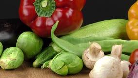 Verduras almacen de metraje de vídeo