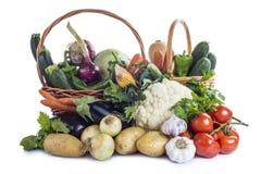 Verduras aisladas en un fondo blanco Foto de archivo libre de regalías