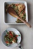 Verduras asadas con queso Fotos de archivo libres de regalías