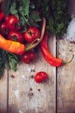 Verduras brillantes del verano Fotografía de archivo