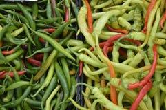 Verduras, chiles Fotos de archivo