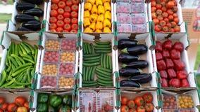 Verduras clasificadas coloridas Foto de archivo libre de regalías