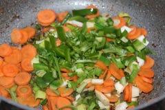 Verduras cocidas Fotos de archivo