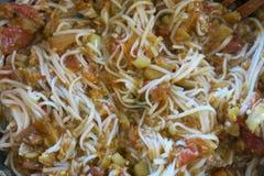 Verduras cocidas al vapor con el spagete Fotos de archivo