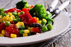 Verduras coloridas cocinadas imagen de archivo libre de regalías
