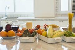 Verduras con los ingredientes listos Imagen de archivo libre de regalías