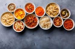 Verduras conservadas en vinagre comida coreana y ensaladas calientes fotografía de archivo