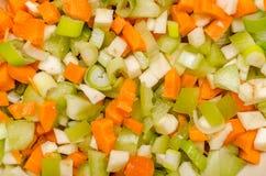 Verduras cortadas Imágenes de archivo libres de regalías