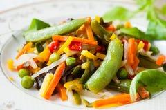Verduras de Fried Assorted Imagen de archivo libre de regalías
