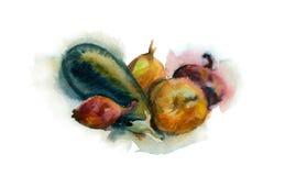 Verduras de la acuarela Fotografía de archivo libre de regalías