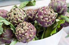 Verduras de la alcachofa Imagen de archivo libre de regalías
