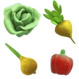 Verduras 1 de la plastilina foto de archivo libre de regalías