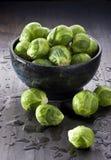 Verduras de las coles de Bruselas Foto de archivo