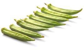 Verduras de los fingeres del quingombó o de las señoras VI Fotografía de archivo libre de regalías