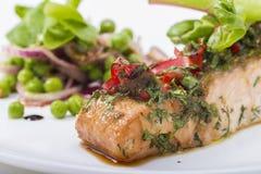 Verduras de los pescados Foto de archivo libre de regalías