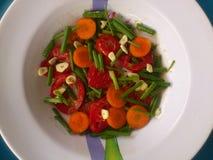Verduras, decoración y arte culinario Foto de archivo libre de regalías
