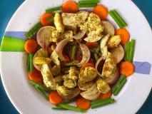 Verduras, decoración y arte culinario Imagen de archivo