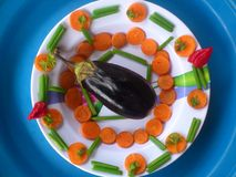 Verduras, decoración y arte culinario Imagen de archivo libre de regalías