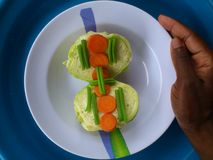 Verduras, decoración y arte culinario Fotos de archivo libres de regalías
