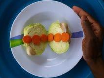 Verduras, decoración y arte culinario Fotos de archivo