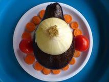 Verduras, decoración y arte culinario Imágenes de archivo libres de regalías