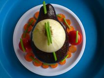 Verduras, decoración y arte culinario Foto de archivo