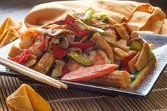 Verduras del chino del camar?n de Szechuan imágenes de archivo libres de regalías