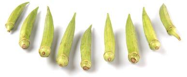 Verduras del quingombó II Imágenes de archivo libres de regalías