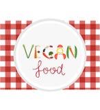 Verduras del vegano que ponen letras en la placa blanca Comida vegetariana Fotografía de archivo