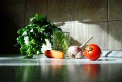 Verduras e hierbas Fotografía de archivo