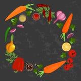Verduras e ingredientes fotografía de archivo libre de regalías
