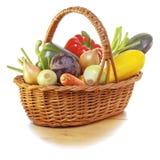Verduras en cesta imagen de archivo libre de regalías
