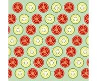 Verduras en el fondo verde Imagenes de archivo