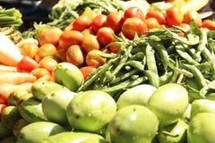 Verduras en el mercado del granjero Imagenes de archivo