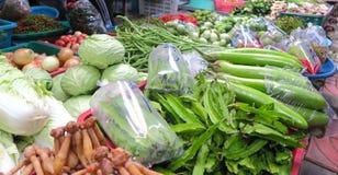 Verduras en el mercado, Tailandia Foto de archivo libre de regalías