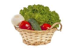 Verduras en la cesta fotografía de archivo libre de regalías