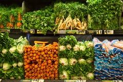 Verduras en mercado de producción Imagen de archivo libre de regalías