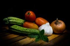Verduras en pintura ligera Fotografía de archivo