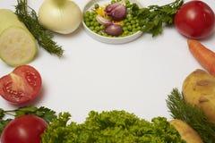 Verduras en un blanco Fotos de archivo