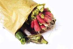 Verduras en un bolso Imagen de archivo libre de regalías