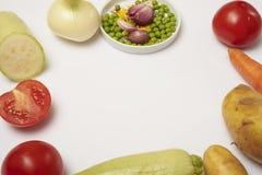 Verduras en un fondo blanco Fotos de archivo