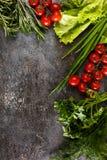 Verduras en un fondo del Grunge Imagen de archivo libre de regalías
