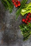 Verduras en un fondo del Grunge Foto de archivo libre de regalías