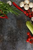 Verduras en un fondo del Grunge Fotografía de archivo